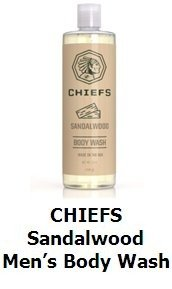 CHIEFS Sandalwood Men's Body Wash